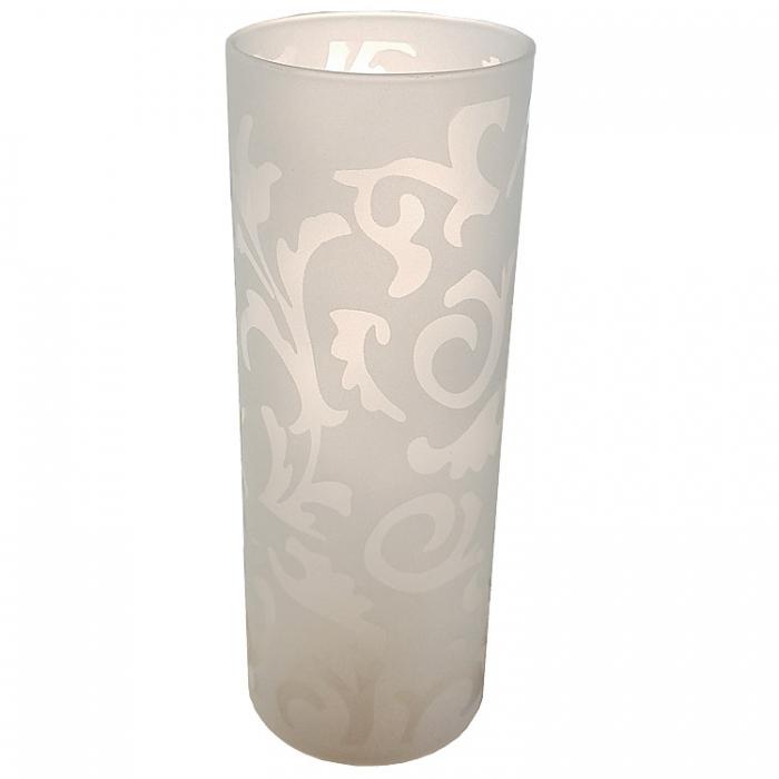 Reality Ersatzglas G5002-11 Lampenglas für Tischleuchte R50020107 Ornamentik Glas weiß 4017807204537