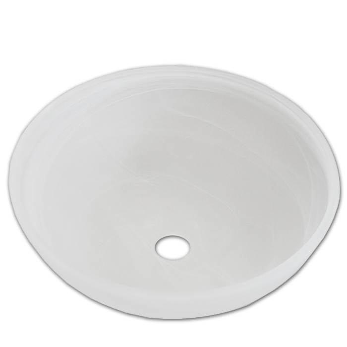 Glasschale Ø 40cm für E27 Fassung als Fluterschale für Stehleuchte oder Pendelleuchte alabaster