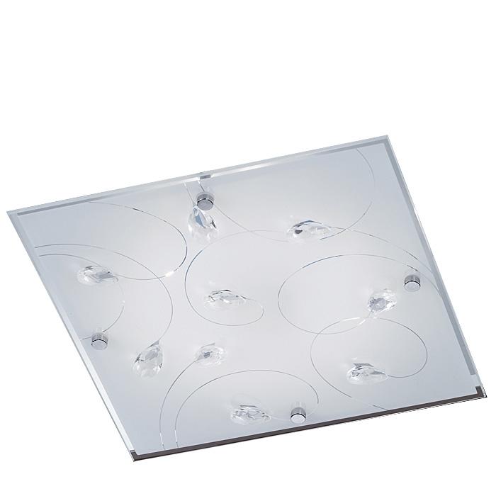 Trio Lampenglas Ersatzglas 92577 Glasscheibe 30x30cm für Deckenlampe 625811206, 4017807253016
