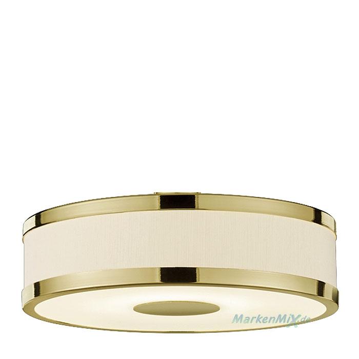 Trio Ersatzschirm Ø20cm für Pendelleuchte Agento 378010408 378010308 Stoffschirm weiß mit goldfarbigen Metallring 4017807391183 Lampenschirm 4017807412949 Glashaube