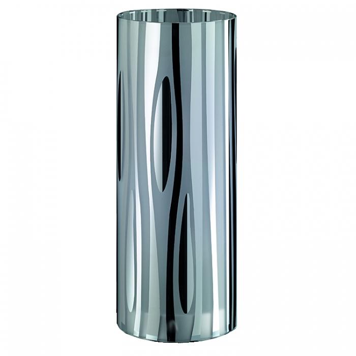 Trio Ersatzglas für Hockerleuchte Ø 12cm H38cm Lampenglas galvanisiert für Tischleuchte 514410206 Glasschirm verchromt Lampenschirm 4017807193695  Glashaube 4017807194357 Abdeckglas