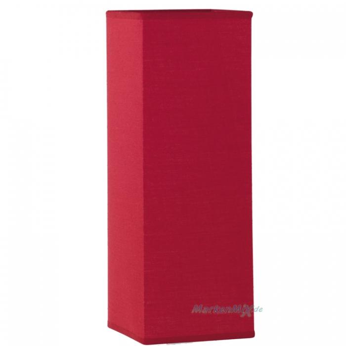 Stoffschirm rot eckig 30 x 11cm für Trio Tischleuchte Piet 5914011-10 Ersatzschirm Lampenschirm aus Stoff 4017807209495 4017807150469 Ersatzlampenschirm