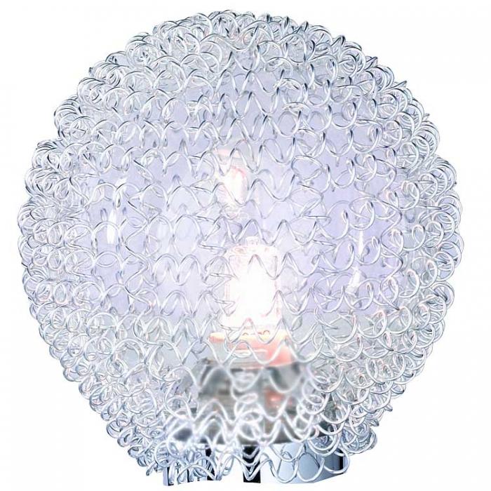 Reality Ersatzglas zur Serie Wire Glasball klar mit Glashals und Aludrahtgeflecht für Tischleuchte R59321106 Stehleuchte R41322106  Ersatzteil  Reality-RL-Trio-Lighting Arnsberg 4017807223958
