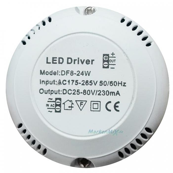 LED Driver DF8-24W DC 25-80V 230mA Treiber DF 8-24W Netzteil z.B. für Brilliant Casale G90023/77 Netzgerät Trafo 4004353284724