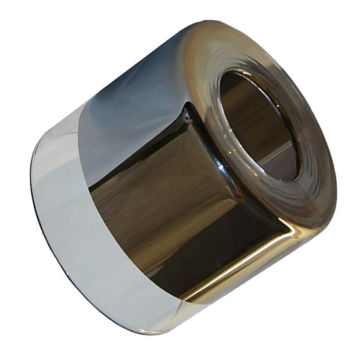 Trio Ersatzglas 92435 Glas chromfarbig / klar für Leuchten-Serien 820670107 Glasschirm 820610207 Ersatzschirm 820610307 820610407 820610607