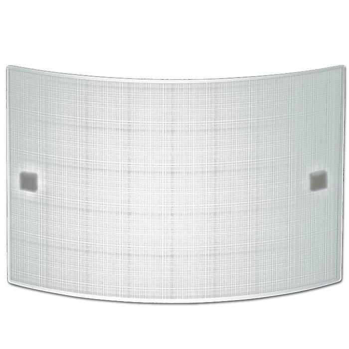 Trio Ersatzglas 92503 Glas 30cm x 20cm weiß mit Linien Glas zu Wandleuchte 203500100 Ersatzschirm Glasschirm Abdeckglas