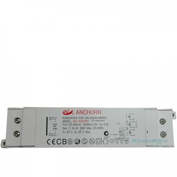 Anchorn AET-4202RB1 Halogen Trafo 80W 11,5VAC 0,33A Treiber