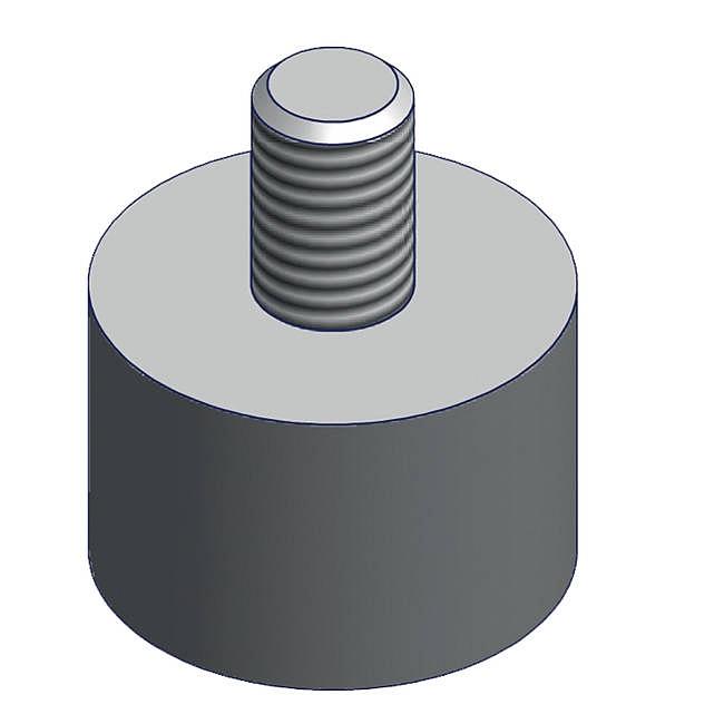 Lübbering 1Satz Gummifüße A9010107 für Roll-Profi und Abroller Vario