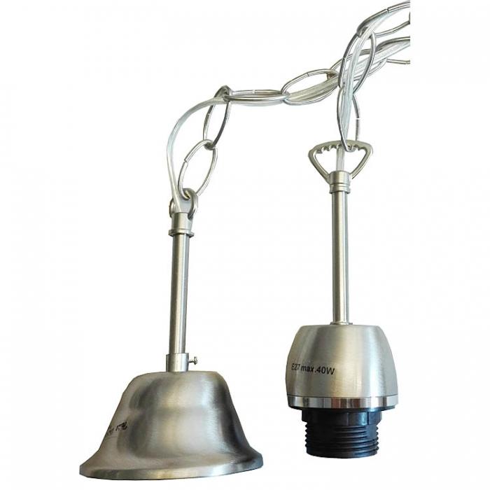 Stahl Kettenpendel mit E27 Fassung Lampenpendel mit Baldachin 1,07m lang, Lampenaufhängung mit Kette, Lampenaufhängung,