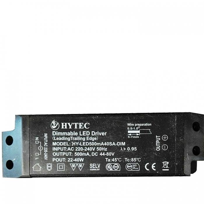 HYTEC Dimmable LED Treiber 44-80V DC 500mA Trafo dimmbar Netzteil z.B. für Sorpetaler Leuchten Netzgerät zu Manhatten 750290