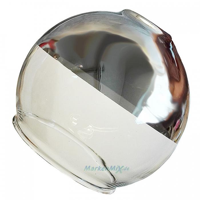 Reality Ersatzglas G82061106 Glas für Serie Chromy R32065106 R82063106 R82061106 halb chrom, halb klar Ersatzlampenschirm Ersatzlampenglas