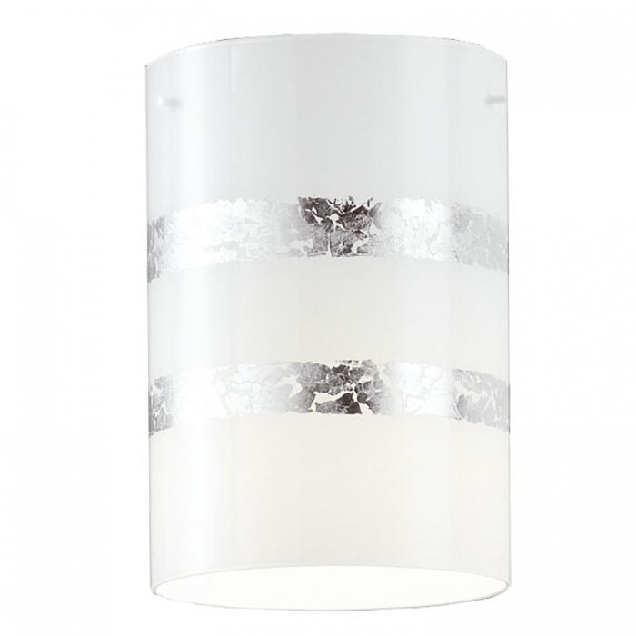 Trio Ersatzglas 92925-89 für Pendelleuchte NIKOSIA Glasschirm weiß mit silberfarbigen Streifen zu 308700189 und Glas zu Balkenpendel 308700389 Glasabdeckung Ersatzschirm zu 4017807385410 4017807385373