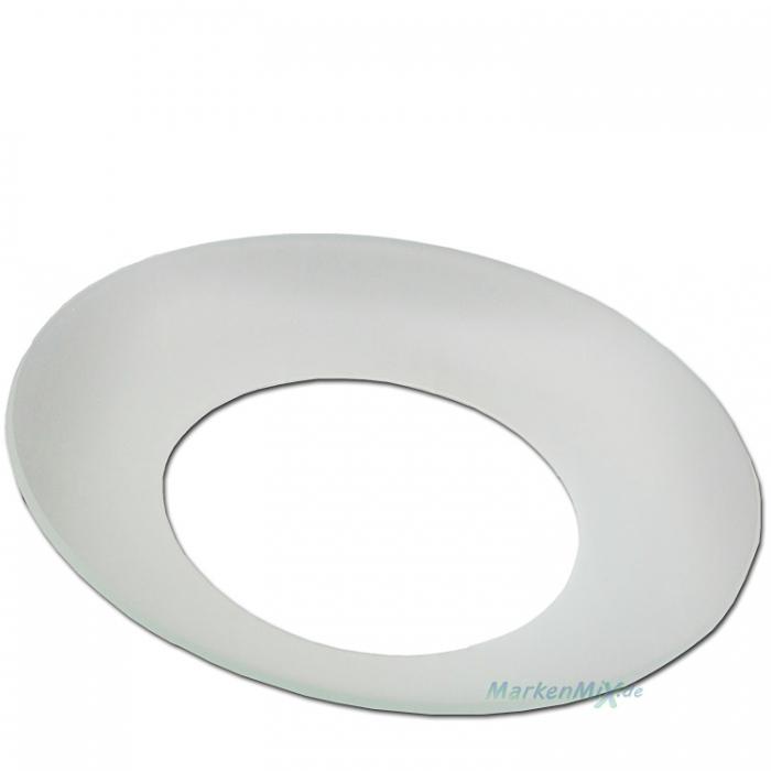 Trio Ersatzglas Fluterglas Ø 32,5cm Glasschale satiniert für Deckenfluter passt auch auf Reality Leuchte R4319-07