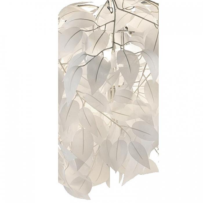 Reality Kunststoff-Ast B6046-01B mit Blättern in weiß für Tischleuchte R50461001 Ersatzteil Serie Leavy Reality-RL-Trio-Lighting Arnsberg 4017807299779  4017807304985