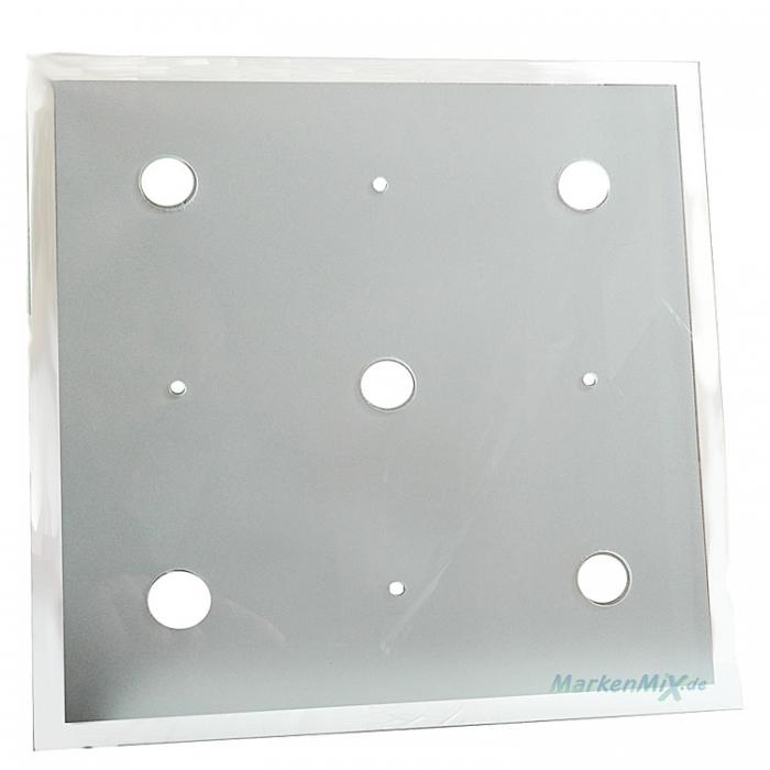 Reality Ersatzglas 25x25cm Glasscheibe satiniert mit klarem Rand Glasschirm für Deckenleuchte R62155106 Glasteller Ersatzschirm zu 4017807222142 Trio-Lighting Arnsberg Reality Leuchten